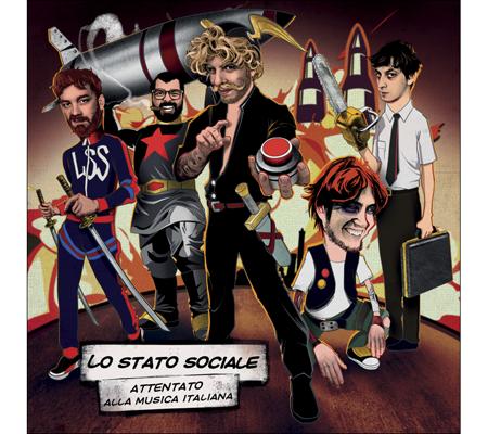 foto attentato alla musica italiana il triplo vinile de lo stato sociale